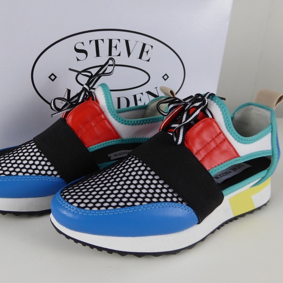 59131f1c8a0 Steve Madden Arctic Bright Cut Out Sneakers NIB